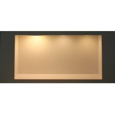 plafonnier rond applique 25w led installation en saillie blanc