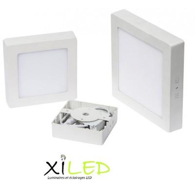 plafonnier carré applique 25w led installation en saillie blanc