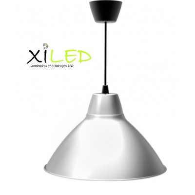 suspension led argent diametre 38cm-380mm aluminium variable