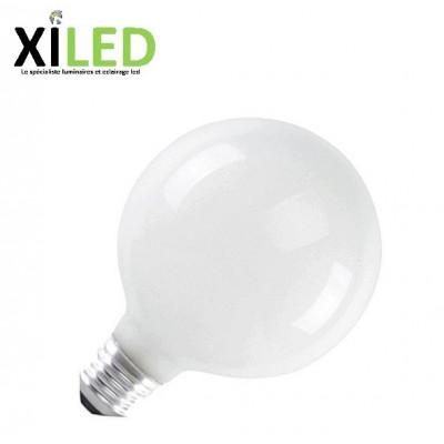 Ampoule LED E27-10w/70w-standard taille 95mm ballon verre BLANC