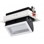 projecteur led encastrable orientable rectangulaire blanc type halogene iodure 245x152mm-5700 lumens-500w
