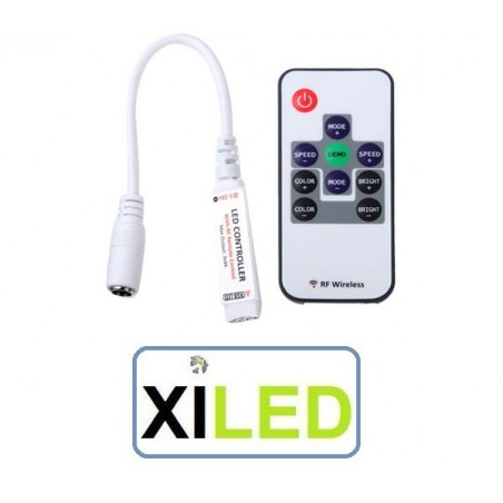 controleur radio rf ruban led rgb rvb couleur programme