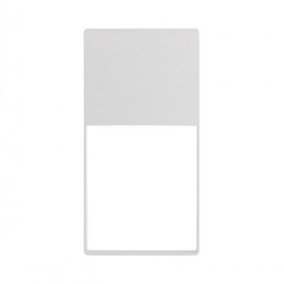 applique balisage exterieur led mural rectangle blanc-150 lumens etanche ip54 moderne 3000k
