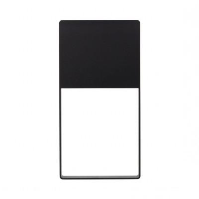 applique balisage exterieur led mural rectangulaire noir-150 lumens etanche ip54 moderne 3000k