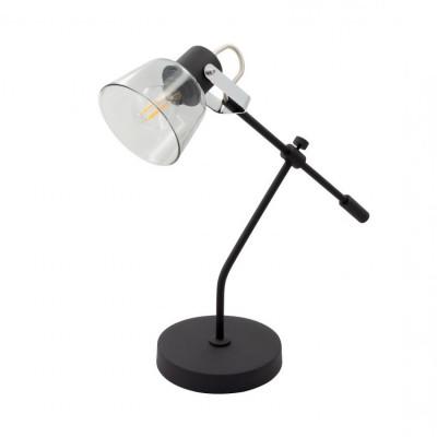 lampe de table noir patère orientable cloche verre culot e14
