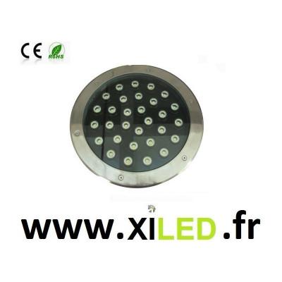 SPOT ENCASTRÉ SOL LED 36W-IP67-BLANC chaud 3000°K-5000-6000-rouge-vert-bleu-jaune