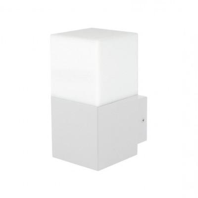 applique exterieur blanche 16cm culot e27 ip54 220v-xiled