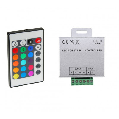 controleur rgb pour ruban led strip modules 12v ou 24v télécommande infrarouges 5 métres