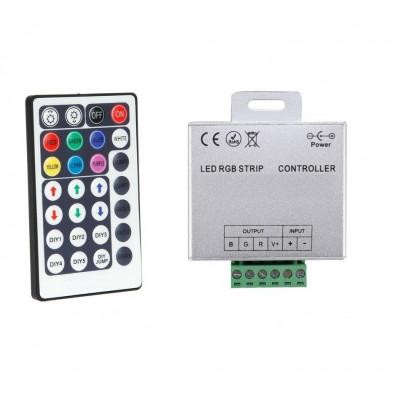 controleur rgb pour ruban led strip modules 12v ou 24v télécommande radio fréquence 6 métres