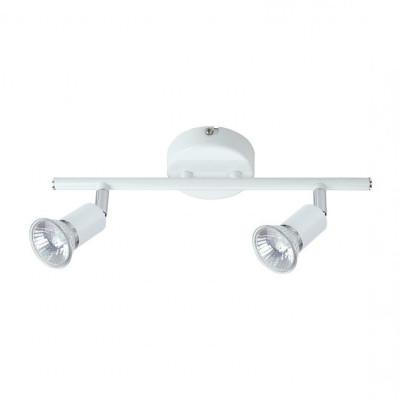 spot patere double tetes orientables gu10 blanche 220v