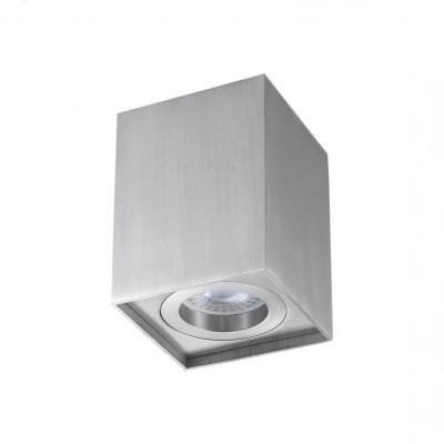 plafonnier bloc aluminium rectangulaire montage saillie ampoule gu10 220v