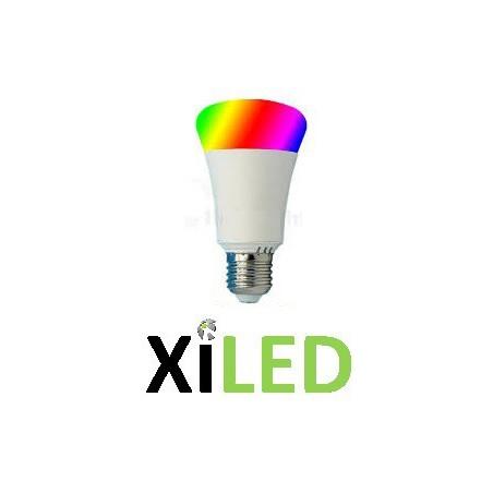 Ampoule Led couleurs radio e27- 9.2w rgbw blanc chaud 3000k