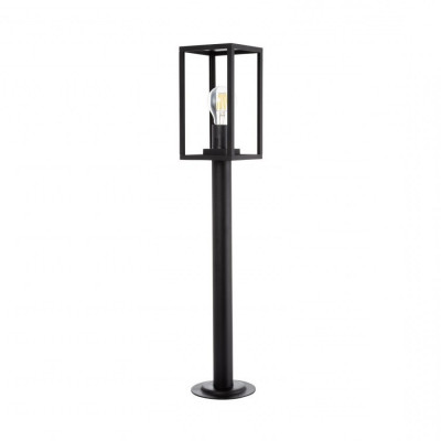 borne-noire-68cm-potelet-balisage-exterieur-culot-e27-ip44220v-cage-moderne