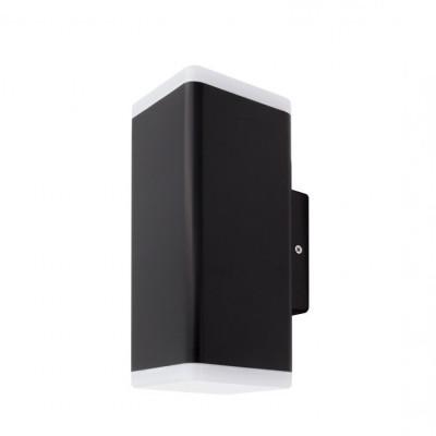 applique murale noire etanche ip54-12w-500lm-3000k-4000k-6000k