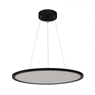 suspension dalle led ronde 60cm noire aluminium-3400 lumens-4500k