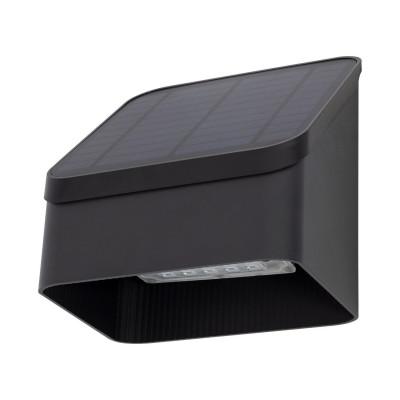 applique solaire noire ip65 detecteur de mouvement 8m-led -190 lumens 3000k-4000k-6000k