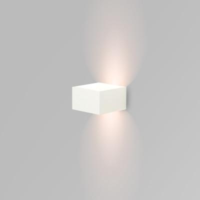 applique led blanche cubique-eclairage haut et bas 6w-400 lumens 3000k