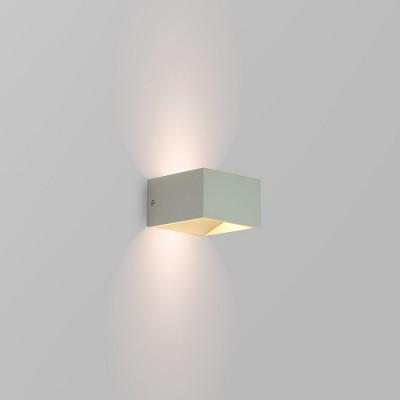 applique-led-grise-cubique-eclairage-haut-et-bas-6w-400-lumens-3000k