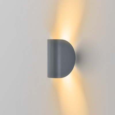 applique led grise eclairage indirect haut et bas 6w-300 lumens 3000k