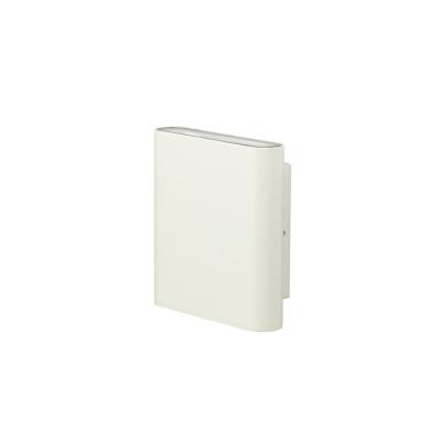 applique exterieur blanche led 12w-660 lumens 3000k mural ip44 eclairage haut et bas 150x42mm