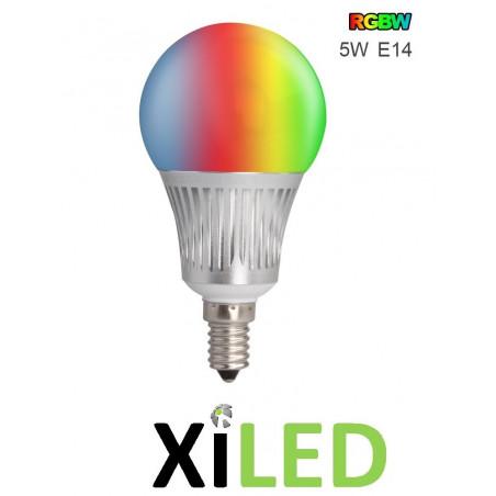 AMPOULE LED couleurs culot e14-5W variable radio
