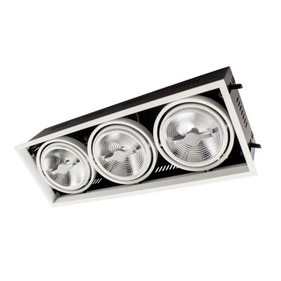 downlight luminaire encastrable 455x155mm triple orientable 45w led dimmable 3000k-4000k-5500k