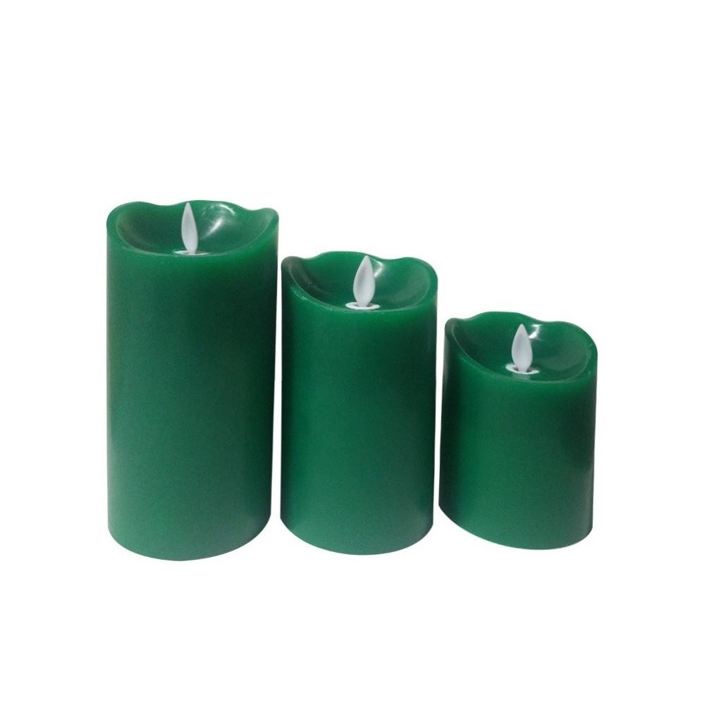 kit-de-3-bougies-verte-a-led-a-piles-flamme-blanc-chaud