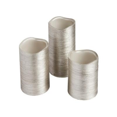 kit-de-3-bougies-argent-a-led-a-piles-flamme-blanc-chaud