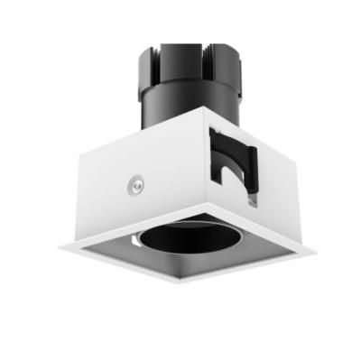downlight spot 30w led 2400 lumens encastrable 110x110-orientable blanc et noir 220-240v-3000k-4000k-5000k