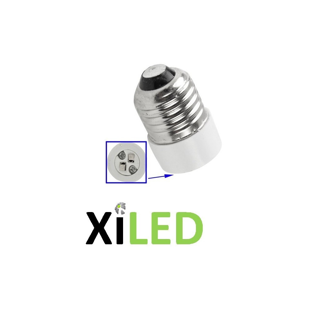 Adaptateur culot ampoule GU10-E14