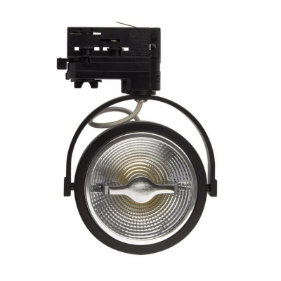 spot sur rail 3 allumages noir led orientable variable angle 24°-800 lumens-3000k-4000k-6000k