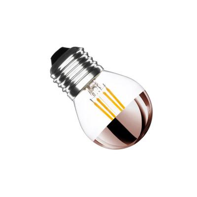 ampoule led filament dimmable reflecteur rosé culot e27 verre-petit ballon-eclairage plafond-300 lumens-2200k