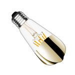 ampoule led filament dimmable culot e27 verre reflecteur doré-edison-800 lumens-2200k