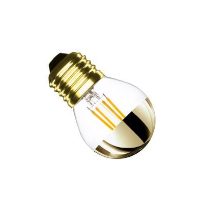 ampoule led filament dimmable culot e27 petit ballon-reflecteur doré eclairage plafond-300 lumens