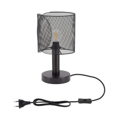 lampe-de-table-noire-culot-e27-pied-30cm-style-cage-grillage-noir