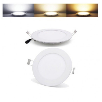 encastrable led 18w 1500 lumens radio fréquence applique variable 3 couleurs 3000k-4000k-6000k