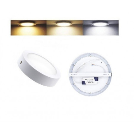 plafonnier led 6w 450 lumens radio fréquence applique variable 3 couleurs 3000k-4000k-6000k