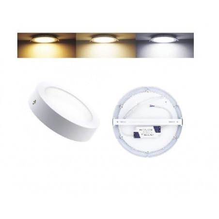 plafonnier led 18w radio fréquence applique 1700 lumens variable 3 couleurs 3000k-4000k-6000k