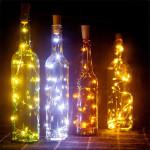 guirlande a pile spécial bouchon de bouteille décoration table fetes