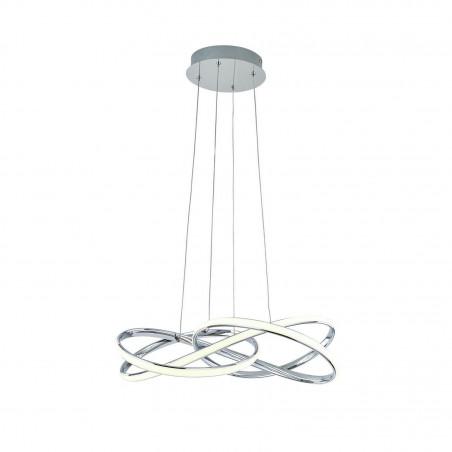 suspension chrome en spirale 58cm 40w-2000 lumens suspendu 230v