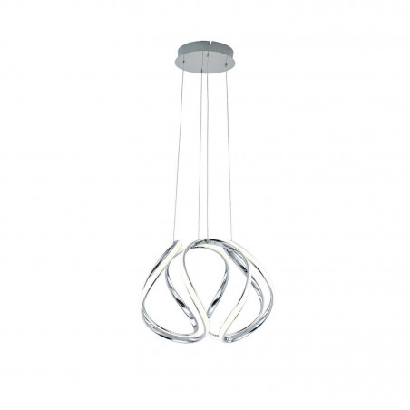 suspension chrome en spirale 40cm 40w-2800 lumens suspendu 230v