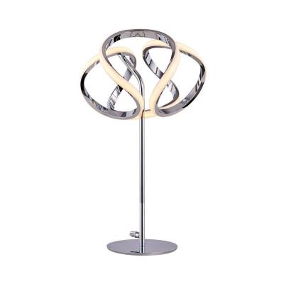 lampe a poser chrome en spirale 24cm 24w-1600 lumens 230v
