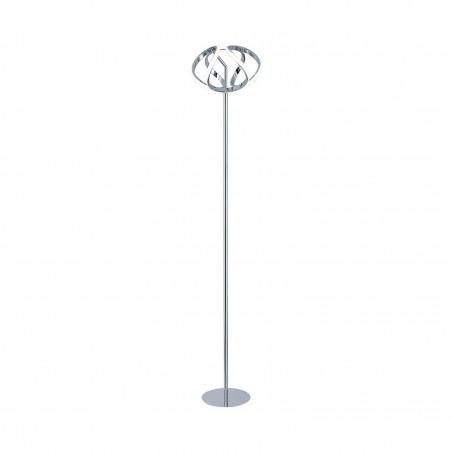 lampadaire a poser chrome en spirale 115cm 24w-1600 lumens 230v