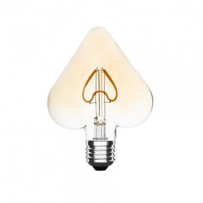 ampoule led filament philips culot e27 forme de coeur 125x168mm verre-125 lumens