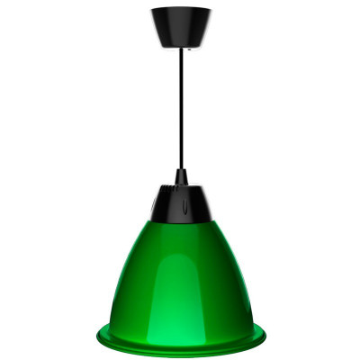 suspension led cappuccino rouge-vert-jaune diametre 30cm aluminium variable