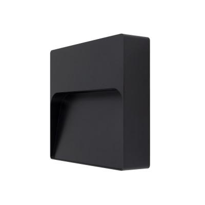 applique balisage exterieur led mural carre noir-500 lumens etanche ip65