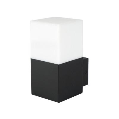 applique exterieur noire 16cm culot e27 ip54 220v-xiled