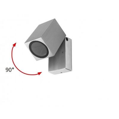 applique murale gris anthracite double spot gu10 etanche