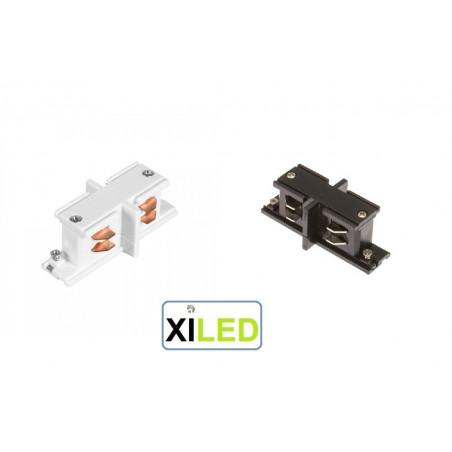 xiled CONNECTEUR RAIL 3 ALLUMAGES blanc ou noir type i connection droite