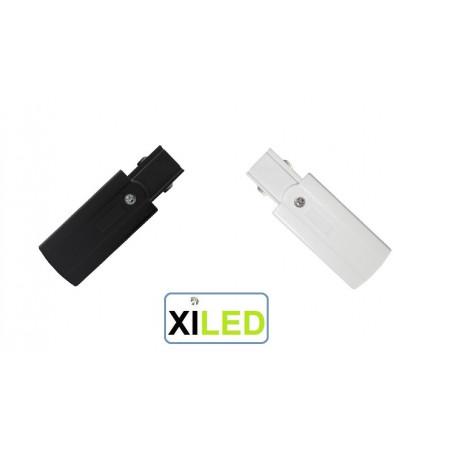xiled-CONNECTEUR ALIMENTATION POUR RAIL 3 ALLUMAGES blanc ou noir